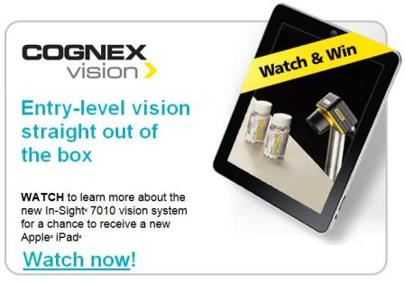 Watch In-Sight 7010 video for chance to win iPad